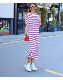 Šaty - kód 9910 - fialová