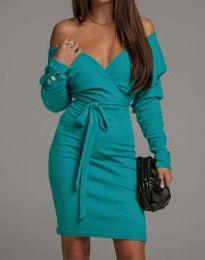 Šaty - kód 4765 - tyrkysová