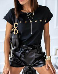 Tričko - kód 4318 - čierná