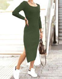 Šaty - kód 2326 - olivovo zelená