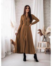 Šaty - kód 1544 - hnedá