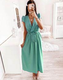 Šaty - kód 2455 - 2 - tyrkysová