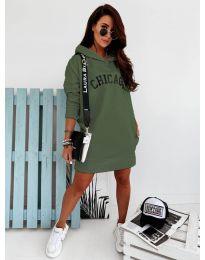 Šaty - kód 802 - olivová  zelená