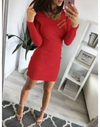 Šaty - kód 3298 - červená