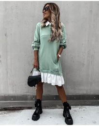 Šaty - kód 5516 - mentolová