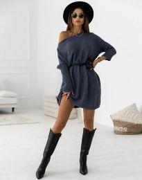 Šaty - kód 6940 - tmavomodrá