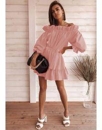 Šaty - kód 3386 - pudrová