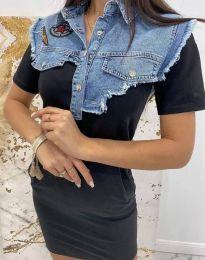 Šaty - kód 2473 - 2 - čierná