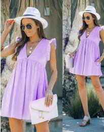 Šaty - kód 7141 - svetlo fialová