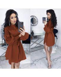 Šaty - kód 6364 - hnedá