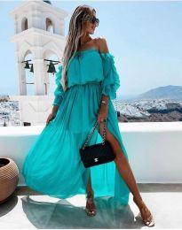 Šaty - kód 6624 - 1 - tyrkysová
