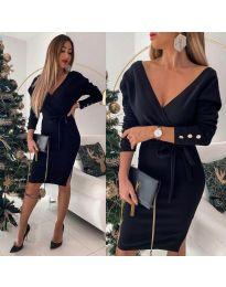 Šaty - kód 1584 - 3 - čierná