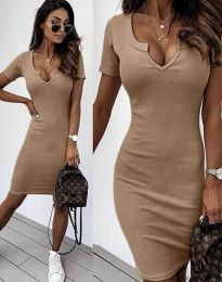 Šaty - kód 2202 - 4 - cappuccino