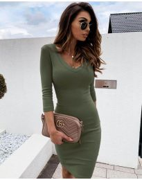 Šaty - kód 4040 - olivová  zelená