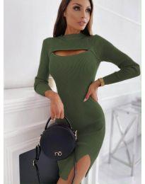 Šaty - kód 4528 - zelená