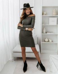 Šaty - kód 0984 - 3 - olivová  zelená