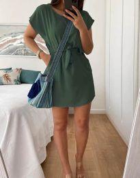 Šaty - kód 2258 - olivovo zelená