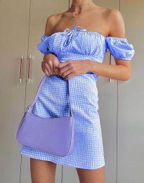 Šaty - kód 2594 - 3 - svetlo modrá