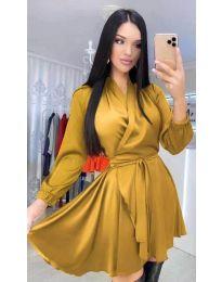 Šaty - kód 5931 - hořčičná