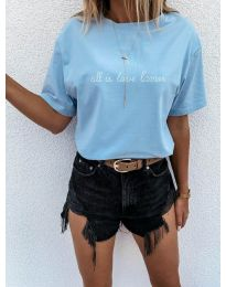 Tričko - kód 36755 - modrý