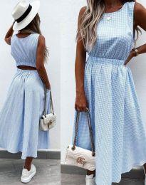 Šaty - kód 2687 - svetlo modrá