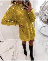 Šaty - kód 3480 - hořčičná
