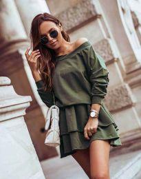 Šaty - kód 0525 - olivovo zelená