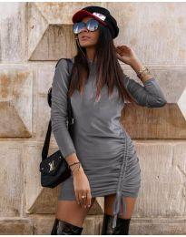 Šaty - kód 9545 - šedá