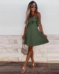 Šaty - kód 2739 - olivová  zelená