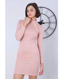 Šaty - kód 7099 - 3 - pudrová