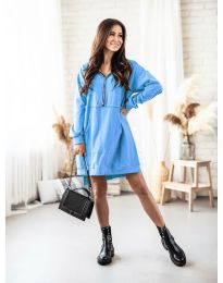 Šaty - kód 6113 svetlo modrá