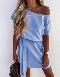 Šaty - kód 6737 - svetlo modrá