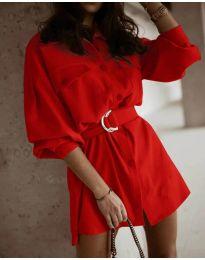 Šaty - kód 6461 - červená