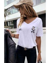 Tričko - kód 3021 - 1 - biela