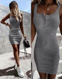 Šaty - kód 9458 - sivá