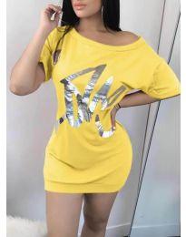 Šaty - kód 1100 - žltá