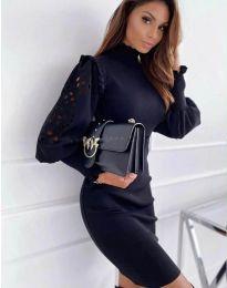 Šaty - kód 1638 - 3 - čierná
