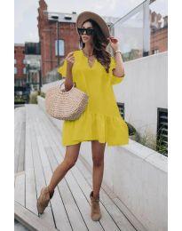 Šaty - kód 6868 - žltá