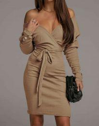 Šaty - kód 4765 - cappuccino
