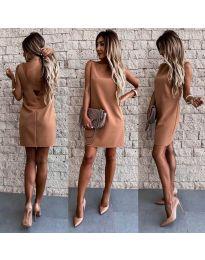 Šaty - kód 1156 - hnedá