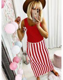 Šaty - kód 5544 - červená