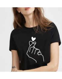 Tričko - kód 816 - čierná