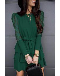 Šaty - kód 8384 - olivová  zelená