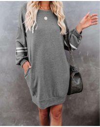 Šaty - kód 5925 - šedá