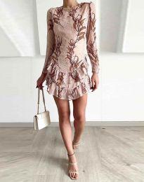 Šaty - kód 3610 - 2 - bežová