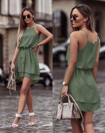 Šaty - kód 2104 - olivovo zelená