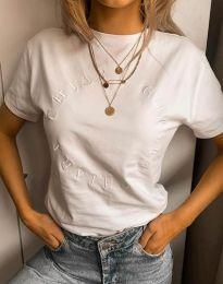 Tričko - kód 4496 - biela