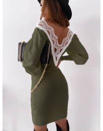 Šaty - kód 1718 - olivová  zelená