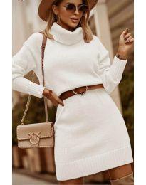 Šaty - kód 8668 - biela