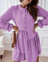 Šaty - kód 2829 - svetlo fialová
